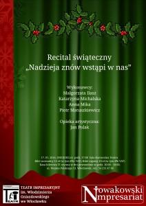 """Recital Świąteczny """"Nadzieja znów wstąpi w nas"""""""
