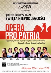 Opera Pro Patria - plakat