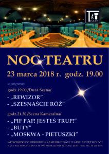 Noc Teatru - plakat