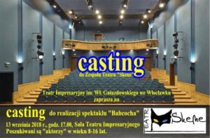 "Casting do Zespołu Teatru ""Skene"""