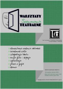 """""""SCENOMANIA"""" – warsztaty teatralne"""
